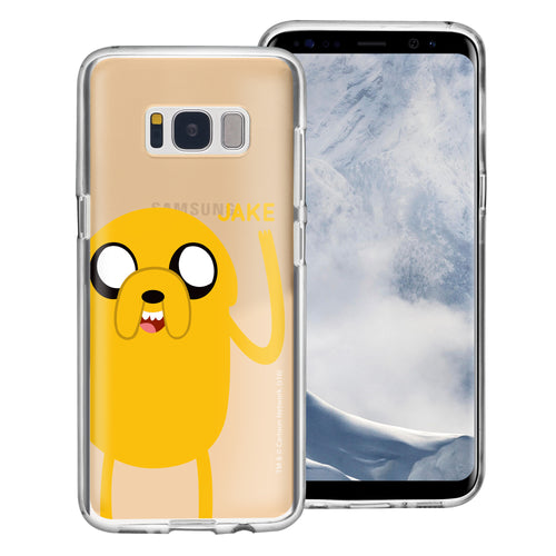 Galaxy S8 Plus Case Adventure Time Clear TPU Cute Soft Jelly Cover - Cuty Jake