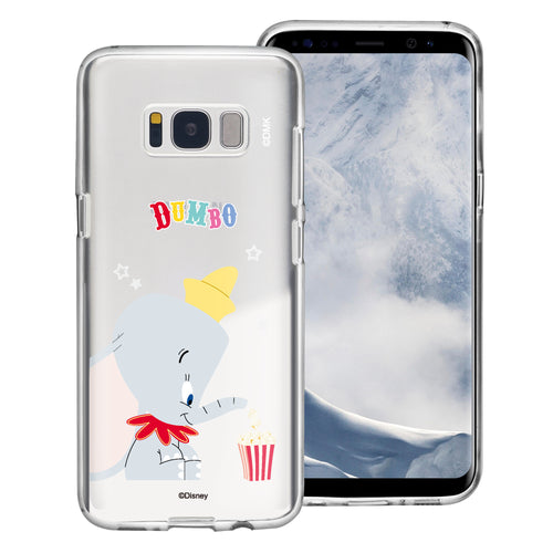 Galaxy S8 Case (5.8inch) Disney Clear TPU Cute Soft Jelly Cover - Dumbo Popcorn