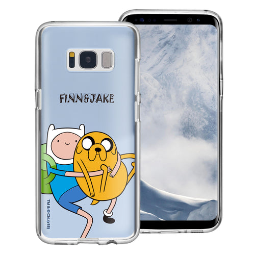 Galaxy S8 Case (5.8inch) Adventure Time Clear TPU Cute Soft Jelly Cover - Lovely Finn and Jake