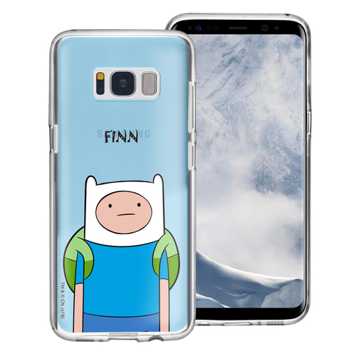 Galaxy S8 Case (5.8inch) Adventure Time Clear TPU Cute Soft Jelly Cover - Lovely Finn
