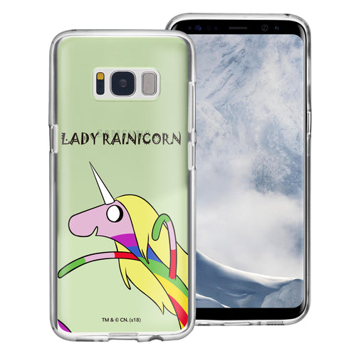 Galaxy S8 Plus Case Adventure Time Clear TPU Cute Soft Jelly Cover - Lovely Lady Rainicorn