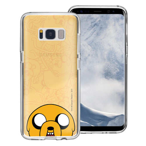 Galaxy S8 Plus Case Adventure Time Clear TPU Cute Soft Jelly Cover - Pattern Jake Big