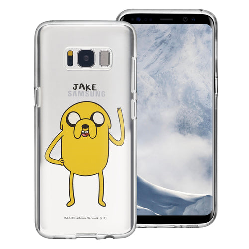 Galaxy S6 Edge Case Adventure Time Clear TPU Cute Soft Jelly Cover - Full Jake