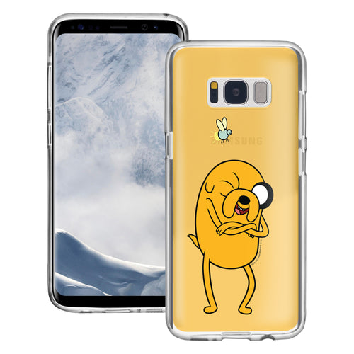 Galaxy S6 Edge Case Adventure Time Clear TPU Cute Soft Jelly Cover - Vivid Jake