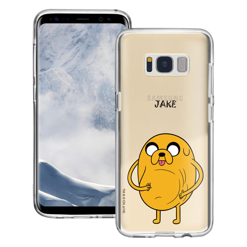 Galaxy S6 Edge Case Adventure Time Clear TPU Cute Soft Jelly Cover - Lovely Jake