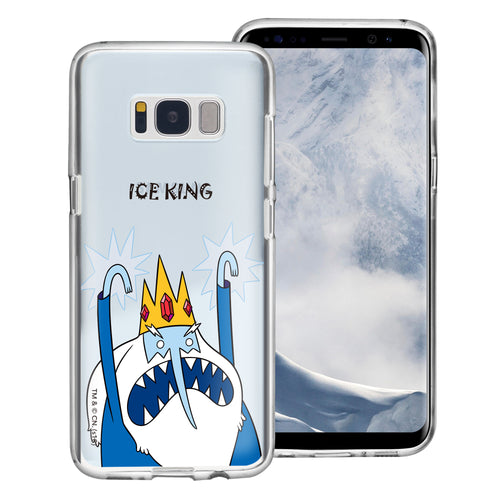 Galaxy Note4 Case Adventure Time Clear TPU Cute Soft Jelly Cover - Lovely Ice King