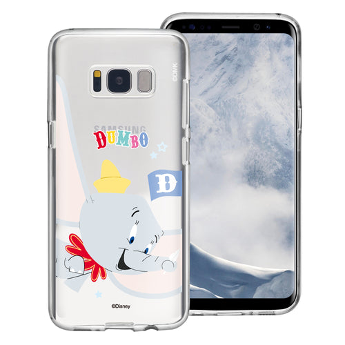 Galaxy S8 Case (5.8inch) Disney Clear TPU Cute Soft Jelly Cover - Dumbo Fly
