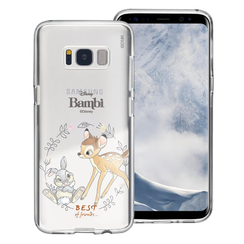 Galaxy S8 Case (5.8inch) Disney Clear TPU Cute Soft Jelly Cover - Full Bambi Thumper