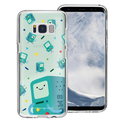 Galaxy S8 Plus Case Adventure Time Clear TPU Cute Soft Jelly Cover - Cuty Pattern BMO