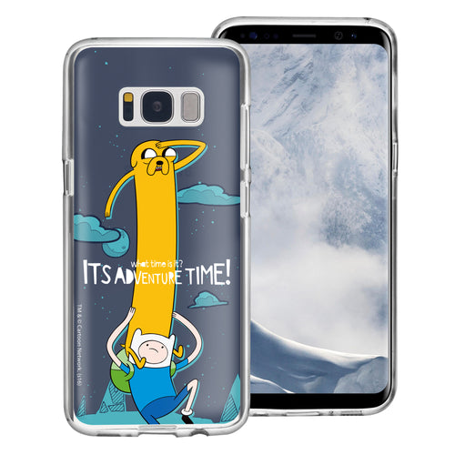 Galaxy S8 Case (5.8inch) Adventure Time Clear TPU Cute Soft Jelly Cover - Cuty Jake Long