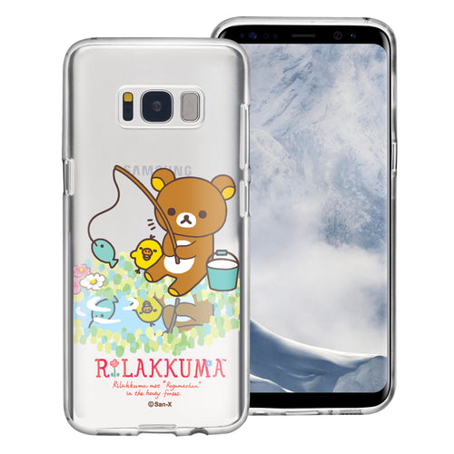 Galaxy S8 Plus Case Rilakkuma Clear TPU Cute Soft Jelly Cover - Rilakkuma Fishing