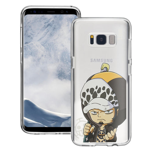 Galaxy S8 Plus Case ONE PIECE Clear TPU Cute Soft Jelly Cover - Mini Law