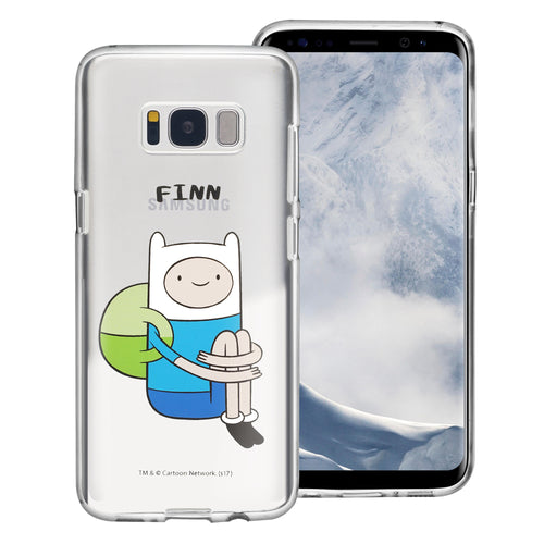 Galaxy S7 Edge Case Adventure Time Clear TPU Cute Soft Jelly Cover - Full Finn