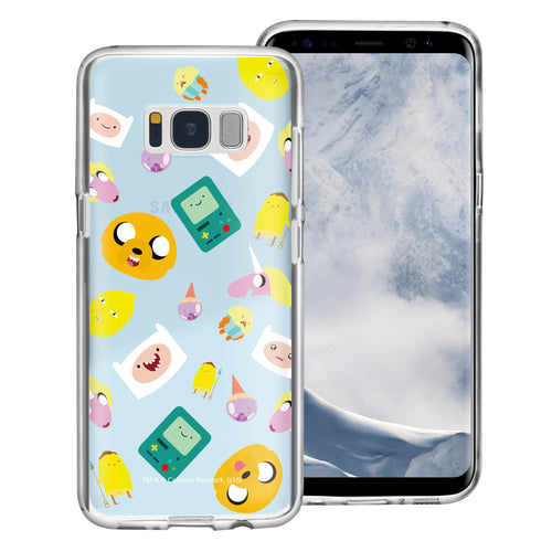 Galaxy S8 Plus Case Adventure Time Clear TPU Cute Soft Jelly Cover - Cuty Pattern Blue