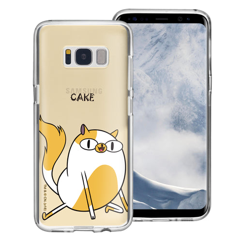 Galaxy S8 Case (5.8inch) Adventure Time Clear TPU Cute Soft Jelly Cover - Lovely Cake