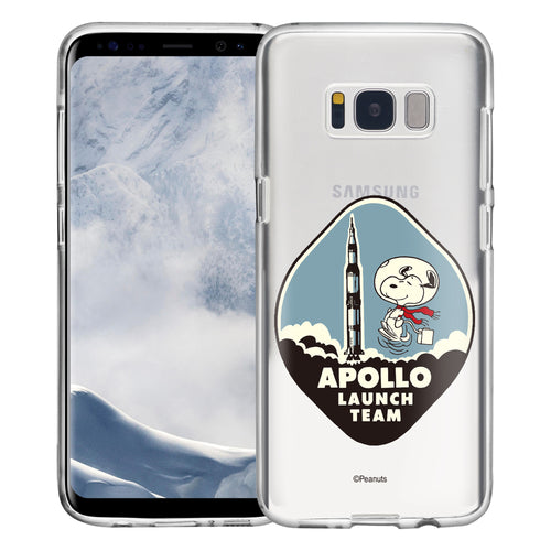 Galaxy S8 Plus Case PEANUTS Clear TPU Cute Soft Jelly Cover - Apollo Rocket