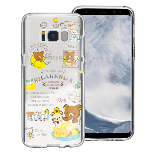 Galaxy S8 Plus Case Rilakkuma Clear TPU Cute Soft Jelly Cover - Rilakkuma Cooking