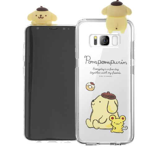 Galaxy S6 Case (5.1inch) Pompompurin Cute Figure Doll Soft Jelly Cover for - Figure Pompompurin