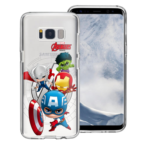 Galaxy S6 Case (5.1inch) Marvel Avengers Soft Jelly TPU Cover - Mini Avengers