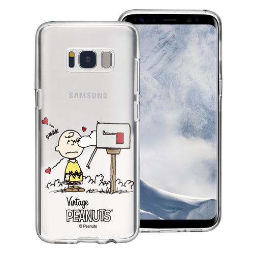 Galaxy S8 Plus Case PEANUTS Clear TPU Cute Soft Jelly Cover - Smack Charlie Brown Mailbox