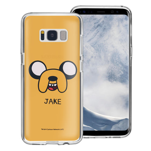 Galaxy Note4 Case Adventure Time Clear TPU Cute Soft Jelly Cover - Face Jake