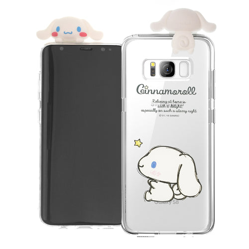 Galaxy S6 Case (5.1inch) Cinnamoroll Cute Figure Doll Soft Jelly Cover for - Figure Cinnamoroll