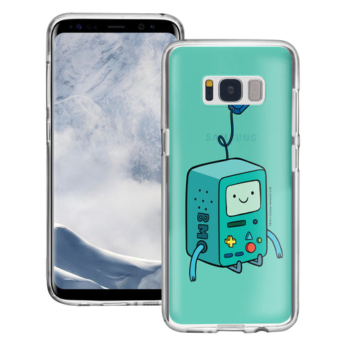 Galaxy S7 Edge Case Adventure Time Clear TPU Cute Soft Jelly Cover - Vivid BMO