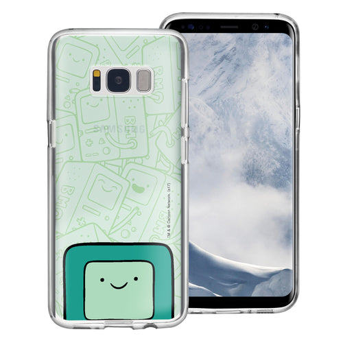 Galaxy S8 Plus Case Adventure Time Clear TPU Cute Soft Jelly Cover - Pattern BMO Big