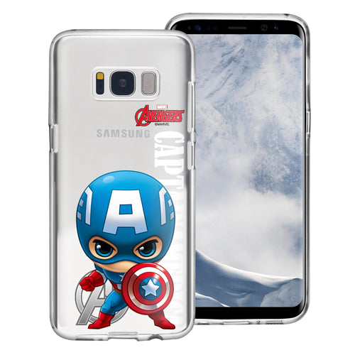 Galaxy S6 Case (5.1inch) Marvel Avengers Soft Jelly TPU Cover - Mini Captain America