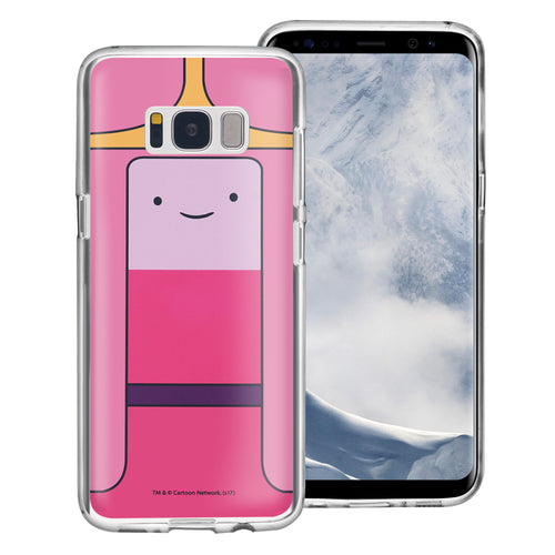 Galaxy S8 Plus Case Adventure Time Clear TPU Cute Soft Jelly Cover - Face Princess Bubblegum