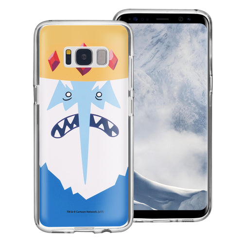 Galaxy S6 Edge Case Adventure Time Clear TPU Cute Soft Jelly Cover - Face Ice King