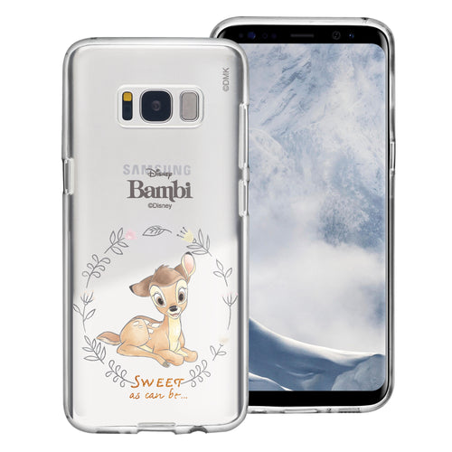 Galaxy S8 Case (5.8inch) Disney Clear TPU Cute Soft Jelly Cover - Full Bambi