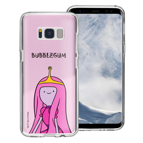 Galaxy S8 Case (5.8inch) Adventure Time Clear TPU Cute Soft Jelly Cover - Lovely Princess Bubblegum
