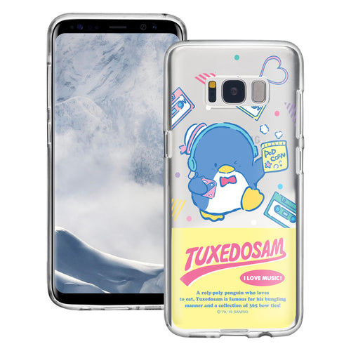Galaxy S6 Edge Case Sanrio Cute Border Clear TPU Soft Jelly Cover - Tuxedosam Wink