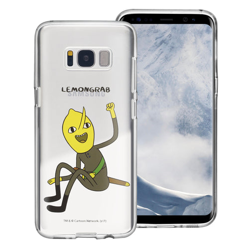 Galaxy S6 Edge Case Adventure Time Clear TPU Cute Soft Jelly Cover - Full Lemongrab