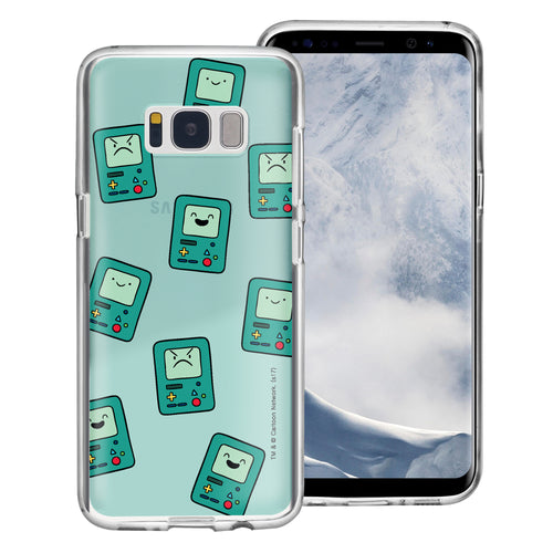 Galaxy S8 Case (5.8inch) Adventure Time Clear TPU Cute Soft Jelly Cover - Pattern BMO