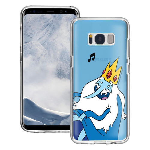 Galaxy S6 Edge Case Adventure Time Clear TPU Cute Soft Jelly Cover - Vivid Ice King