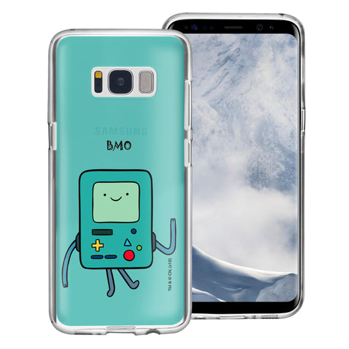 Galaxy S8 Case (5.8inch) Adventure Time Clear TPU Cute Soft Jelly Cover - Lovely BMO