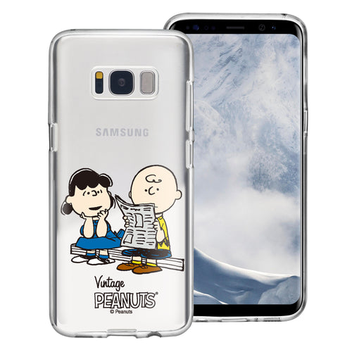 Galaxy S8 Plus Case PEANUTS Clear TPU Cute Soft Jelly Cover - Vivid Charlie Brown Lucy