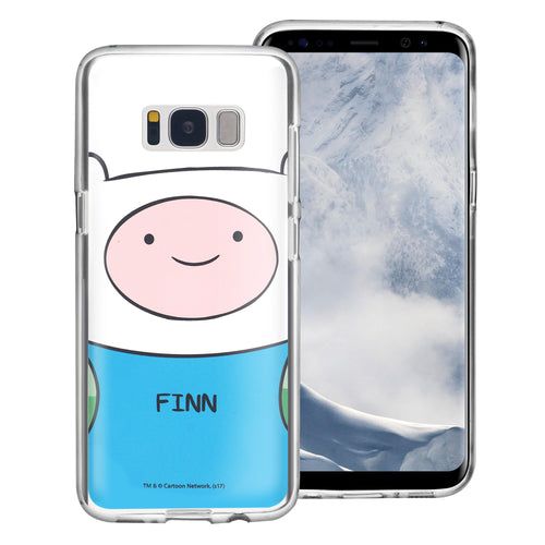 Galaxy S8 Plus Case Adventure Time Clear TPU Cute Soft Jelly Cover - Face Finn Mertens