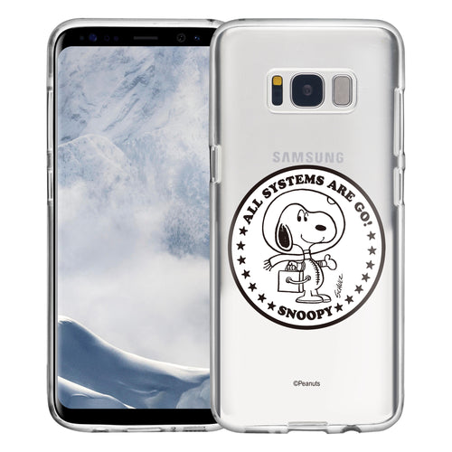 Galaxy S8 Plus Case PEANUTS Clear TPU Cute Soft Jelly Cover - Apollo Stamp