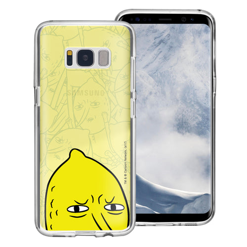 Galaxy S6 Edge Case Adventure Time Clear TPU Cute Soft Jelly Cover - Pattern Lemongrab Big