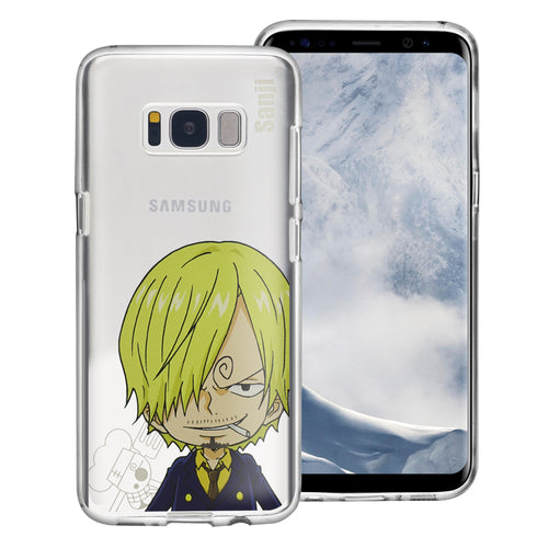Galaxy S8 Plus Case ONE PIECE Clear TPU Cute Soft Jelly Cover - Mini Sanji