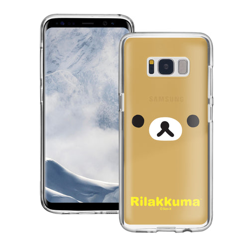 Galaxy S8 Plus Case Rilakkuma Clear TPU Cute Soft Jelly Cover - Face Rilakkuma