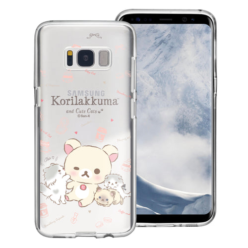 Galaxy Note4 Case Rilakkuma Clear TPU Cute Soft Jelly Cover - Korilakkuma Cat
