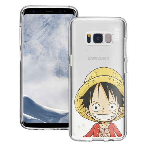 Galaxy S8 Plus Case ONE PIECE Clear TPU Cute Soft Jelly Cover - Mini Luffy
