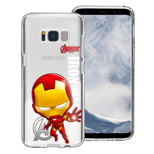 Galaxy S6 Case (5.1inch) Marvel Avengers Soft Jelly TPU Cover - Mini Iron Man