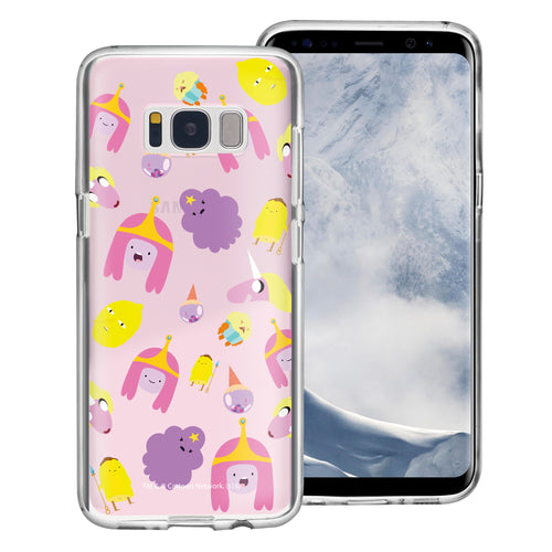 Galaxy S6 Edge Case Adventure Time Clear TPU Cute Soft Jelly Cover - Cuty Pattern Pink
