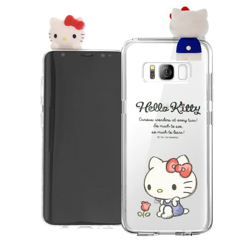 Galaxy S8 Case (5.8inch) Hello Kitty Cute Figure Doll Soft Jelly Cover for - Figure Hello Kitty Sitting