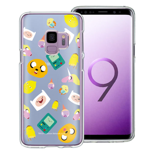 Galaxy S9 Plus Case Adventure Time Clear TPU Cute Soft Jelly Cover - Cuty Pattern Blue